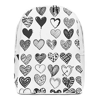 Backpack minimalist | b&w hearts