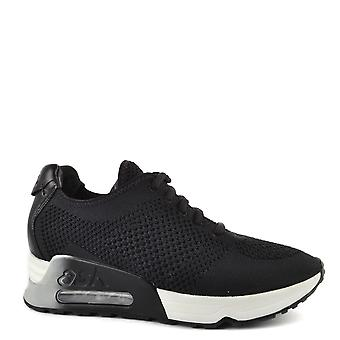 Ash Footwear Lucky Black Knit Trainers