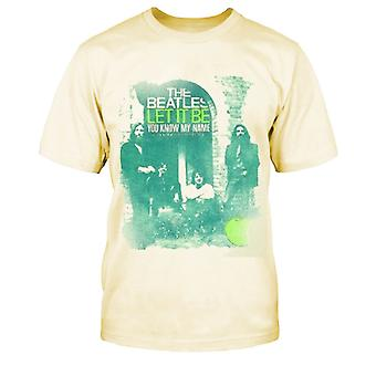 The Beatles You Know My Name Official Kids New Beige T Shirt (Wiek 5-12yrs)