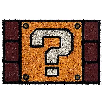Super Mario Frage Block Fußmatte