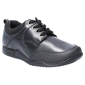 Hush puppies men's dexter jnr lace up school shoe black 28971