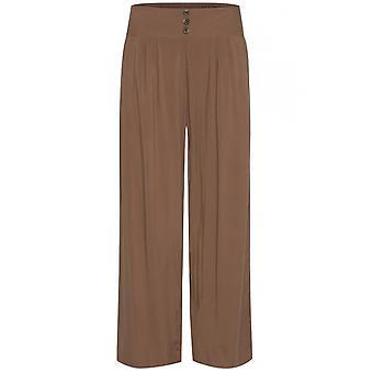 b.young Tan Wide Leg Trousers