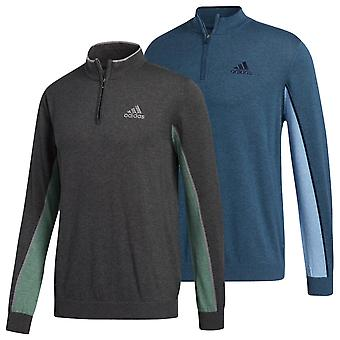 adidas Golf Mens 2020 Zip Hydrophilic Anti UV Regular Fit Sweater
