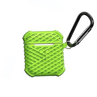 Cas d'airpods en silicone - vert