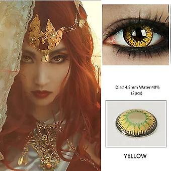 1 Pair Beautiful Pupil Eye Cosmetic Colorful Contact Lens - Halloween Cosplay