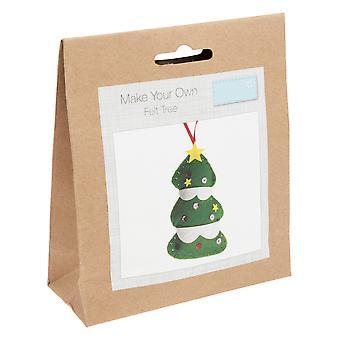 Filt juletræ syning Craft Kit for voksne - DIY juledekoration