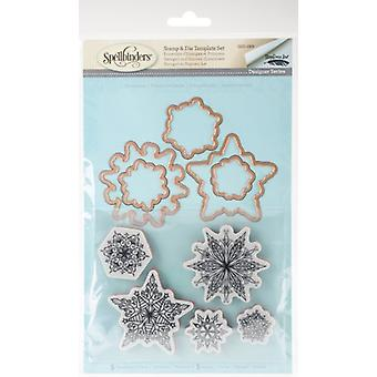 Spellbinders Snowflakes Stamp & Cutting Die Set
