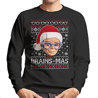 Thunderbirds Christmas Merry Brainsmas Men's Sweatshirt