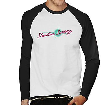 Jem And The Holograms Showtime Synergy Text Men's Baseball Long Sleeved T-Shirt