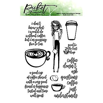 Picket Fence Studios Coffee Understands Clear Stamps