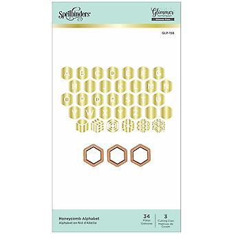 Spellbinders Honeycomb Alphabet Hot Foil Plates