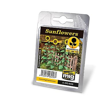 Ammo by Mig Laser Cut Plants - Sunflowers