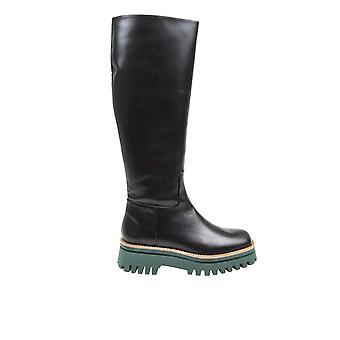 Paloma Barceló Angersblack Women's Black Leather Boots