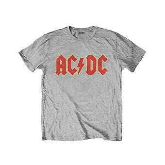 AC/DC Kids T Shirt Classic Band Logo new Official Heather Grey Ages 3-14yrs