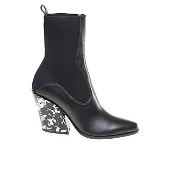 Jimmy Choo Mele85yfblack Women's Black Leather Ankle Boots