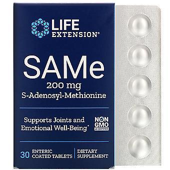 Life Extension, SAMe, S-Adenosyl-Methionin, 200 mg, 30 Enterisch beschichtete Tabletten