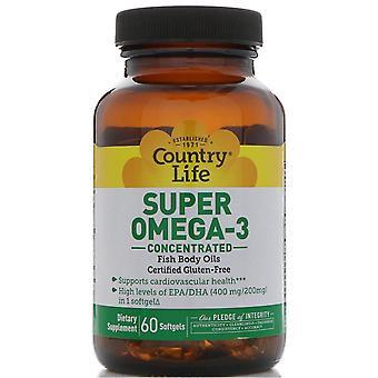 Vita di campagna, Super Omega-3, Concentrato, 60 Softgels