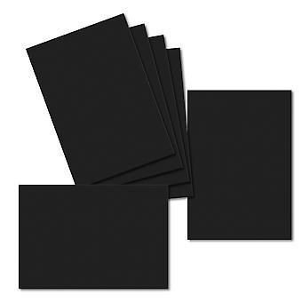 Jet Black. 115mm x 165mm. Carte de voeux. 235gsm Feuille de carte.