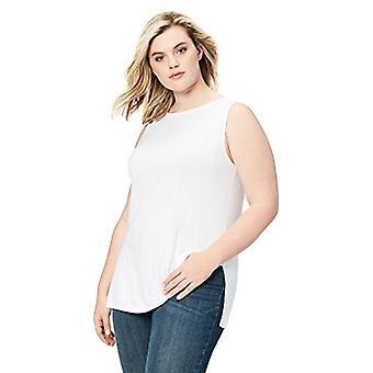 Merk - Daily Ritual Women's Plus Size Jersey Sleeveless Shell Top Wit...