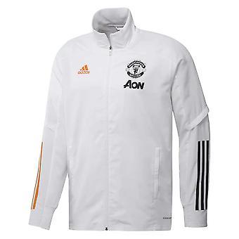 2020-2021 Man Utd Adidas Presentation Jacket (White)