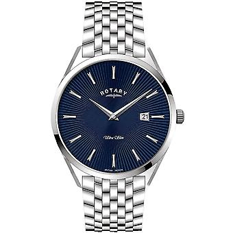 Rotary GB08010-05 Men's Ultraslim Blue Dial Wristwatch