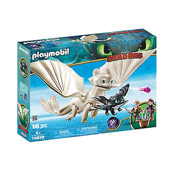 Playmobil DreamWorks Dragons Light Fury With Baby Dragon 16PC Playset