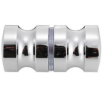 Aluminum Alloy Door Handle Single Groove Glass Door Knob Shower Room Cabinet Pull Handle For Home Hardware Accessories