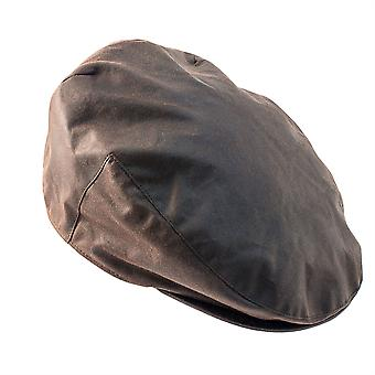 ZH002 (BROWN XL 62cm ) Buchanan Wax Flat Cap