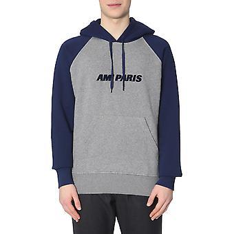 Ami P19j039710064 Herren's blau/grau Baumwoll-Sweatshirt