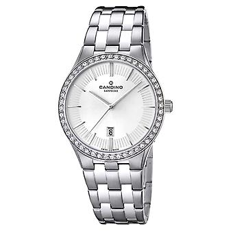 Candino Swiss C4544-1 Women's White Dial Wristwatch With Date