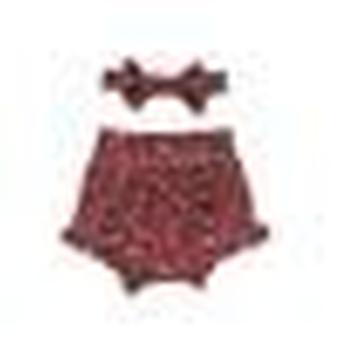 2pcs Set Baby Leopard Shorts Baumwolle Rüschen kurze Hose, Sommer Kleidung Set
