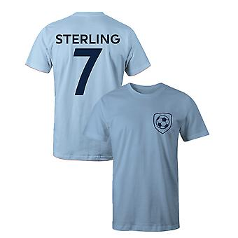 Raheem Sterling 7 Man City Style Player Football T-Shirt