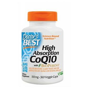 Doctors Best High Absorption COQ10 with Bioperine, 100 mg, 360 Veg Caps