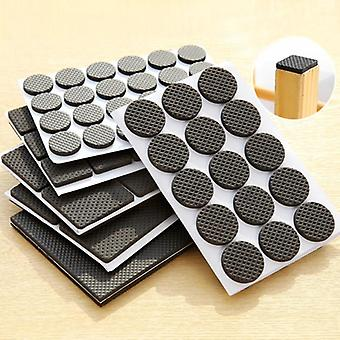 Diy Adhesive Rubber Furniture Feet Floor Protector Pads - Table Legs, Stools,