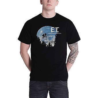 E.T. T Shirt The Moon Movie Logo new Official Mens Black