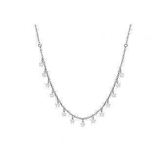 """Eternity Sterling Silver Dangly Star 15"""" + 1"""" Extender Necklace"""