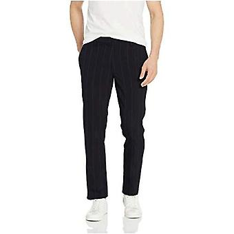 Brand - Goodthreads Men's Slim-Fit Modern Comfort Stretch Chino Pant, Navy Pinstripe 30W x 32L