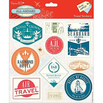 Papermania All Aboard Stickers-reizen