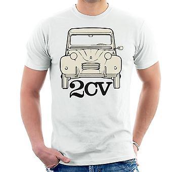 Citroen 2CV Vaalea Miesten t-paita
