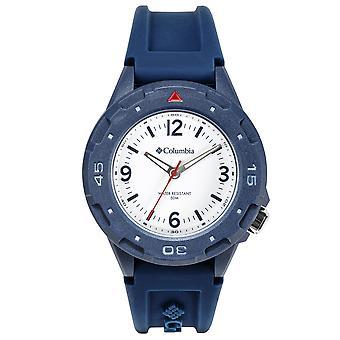 Columbia Exclusive Quartz White Dial Blue Silicone Strap Watch CSS13-003