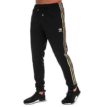 Men's adidas Originals SST 24 Tracksuit Bottoms in Black