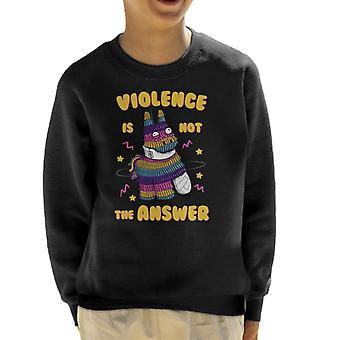 Painata Violence Is Not The Answer Kid's Sweatshirt