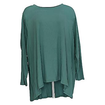 AnyBody Donna Top Long Sleeve Swing Orlo Verde A384062