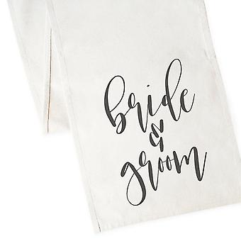 Bride And Groom-cotton Canvas Table Runner