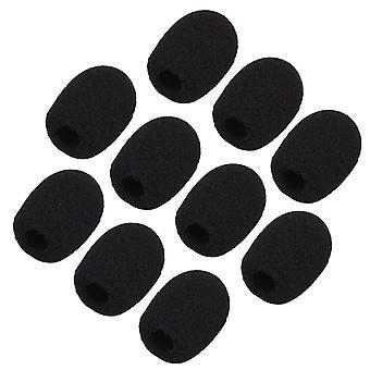 Sunmns ch05-cover mini lapel headset mikrofon vindrutan skumskydd, svart, 10 bit