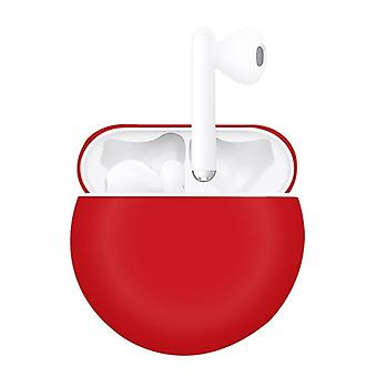 Pour Huawei FreeBuds 3 Split Style Liquid Silicone Wireless Earphone Protective Case Storage Box (Rouge)