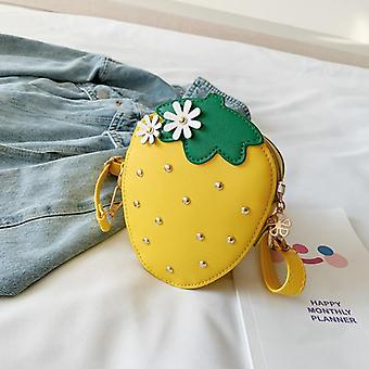 Pu Leather, Strawberry Shaped Crossbody Bags