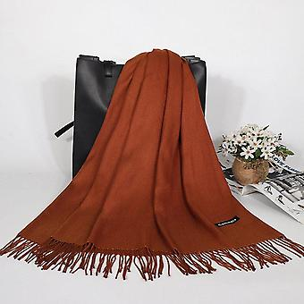 Winter Cashmere Women Scarf Female Luxury Brand Scarves Lady Tassel Bandana