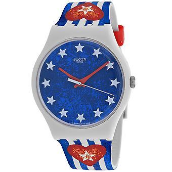 Swatch Men's Anavah Blue Dial Watch - SUOT101