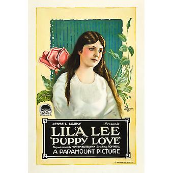 Puppy Love Lila Lee On Poster Art 1919 Movie Poster Masterprint